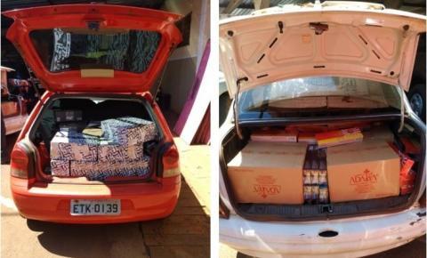 Polícia Civil apreende veículos com contrabando de produtos avaliados em quase R$ 300 mil