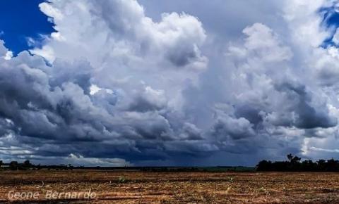 Meteorologia prevê temporal e calor de 38°C em Anastácio